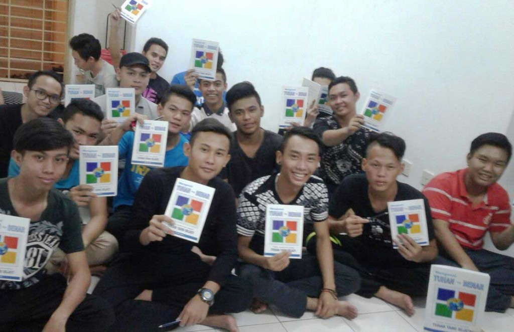 Indigenous college students from Sarawak participating in a Discipleship Bible Class